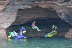 Playing in the Devils Island Caves!